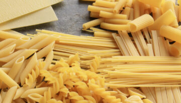 selection of pastas