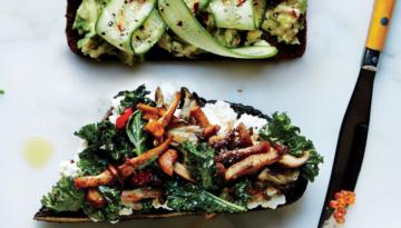 ricotta-kale-mushroom-toast