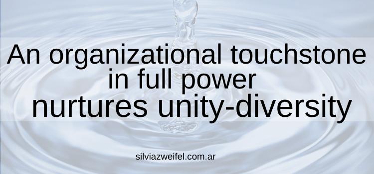 An organizational touchstone to nurture unity-diversity