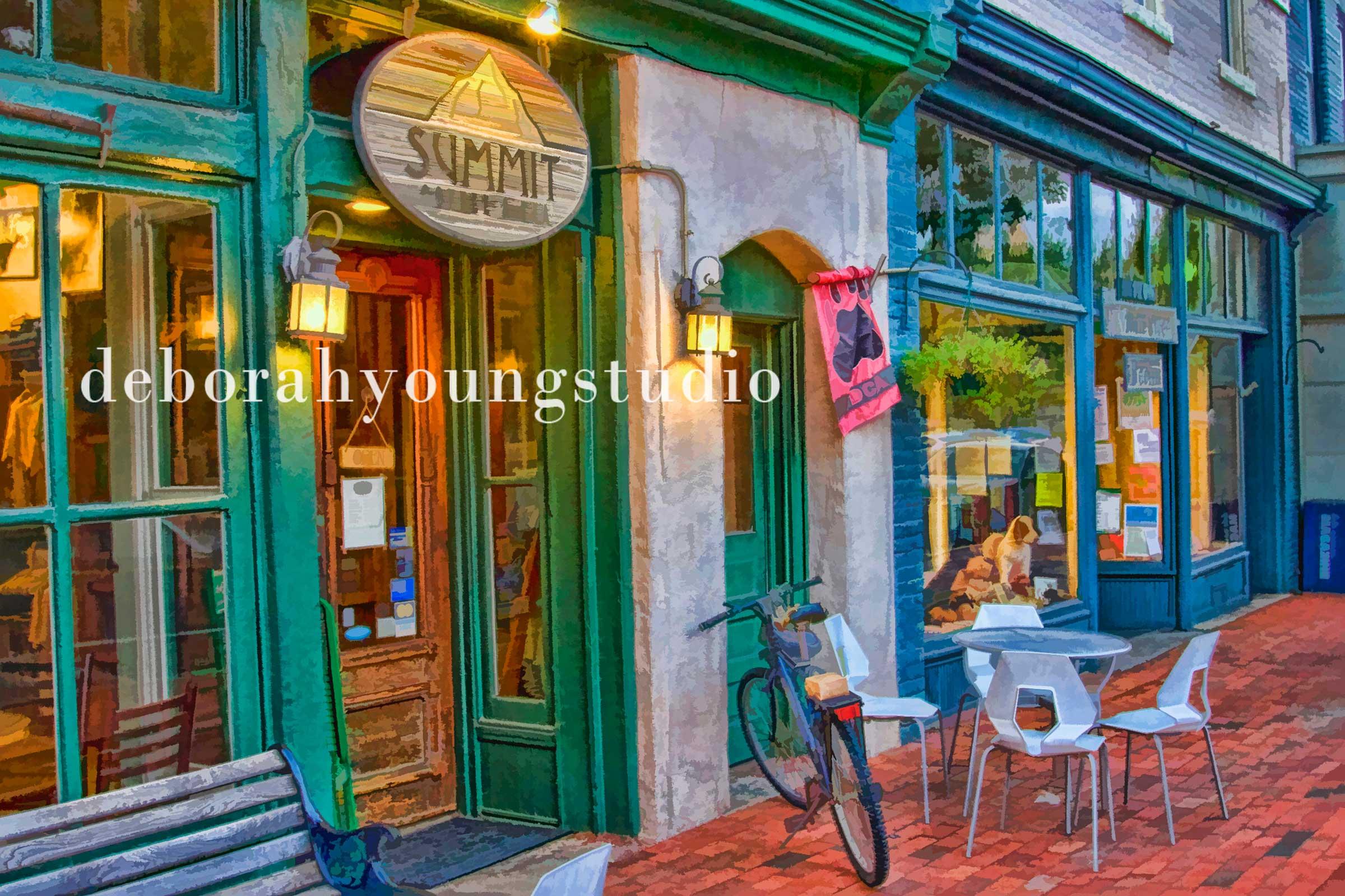 Deborah Young Studio creative art - Summit Coffee Shop
