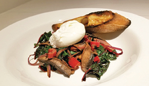 City Palate, guide to the good life in Calgary quick ways with 2018 -09-10 Portobello and Swiss Chard Hash