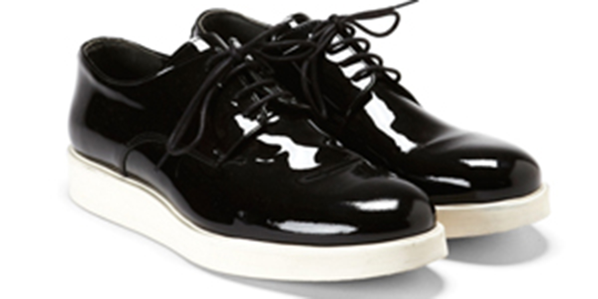 Public School x Generic Man Patent Leather Sneaker