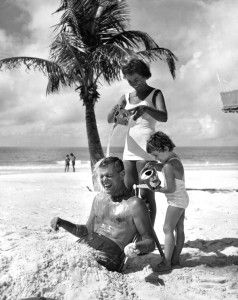 Florida family at beach