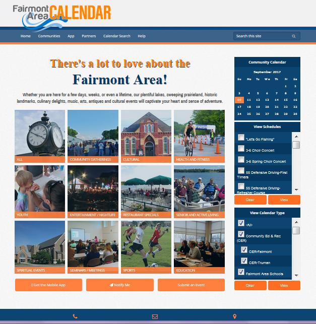 Fairmont Area Calendar