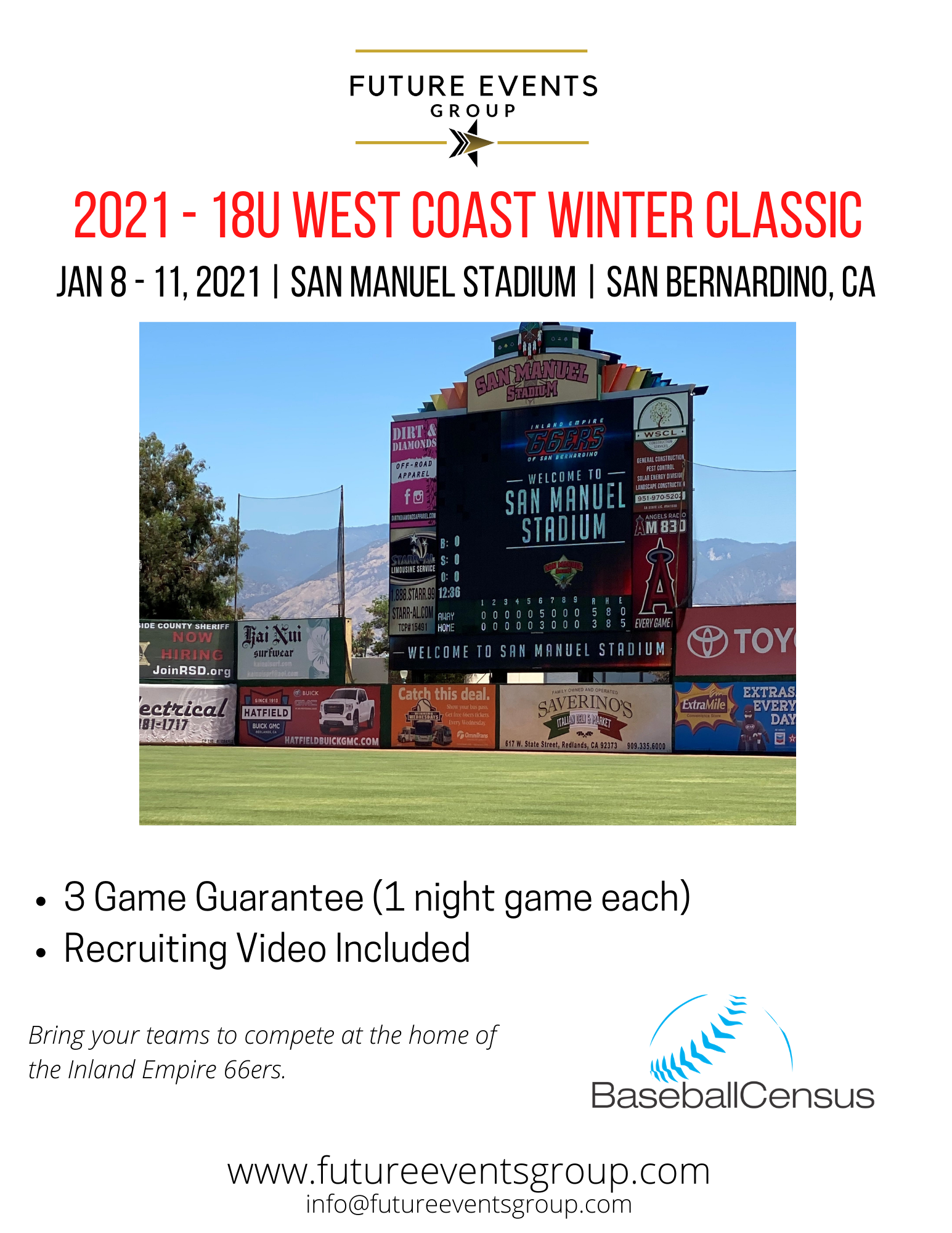 2021 West Coast Winter Classic - 18U Tournament