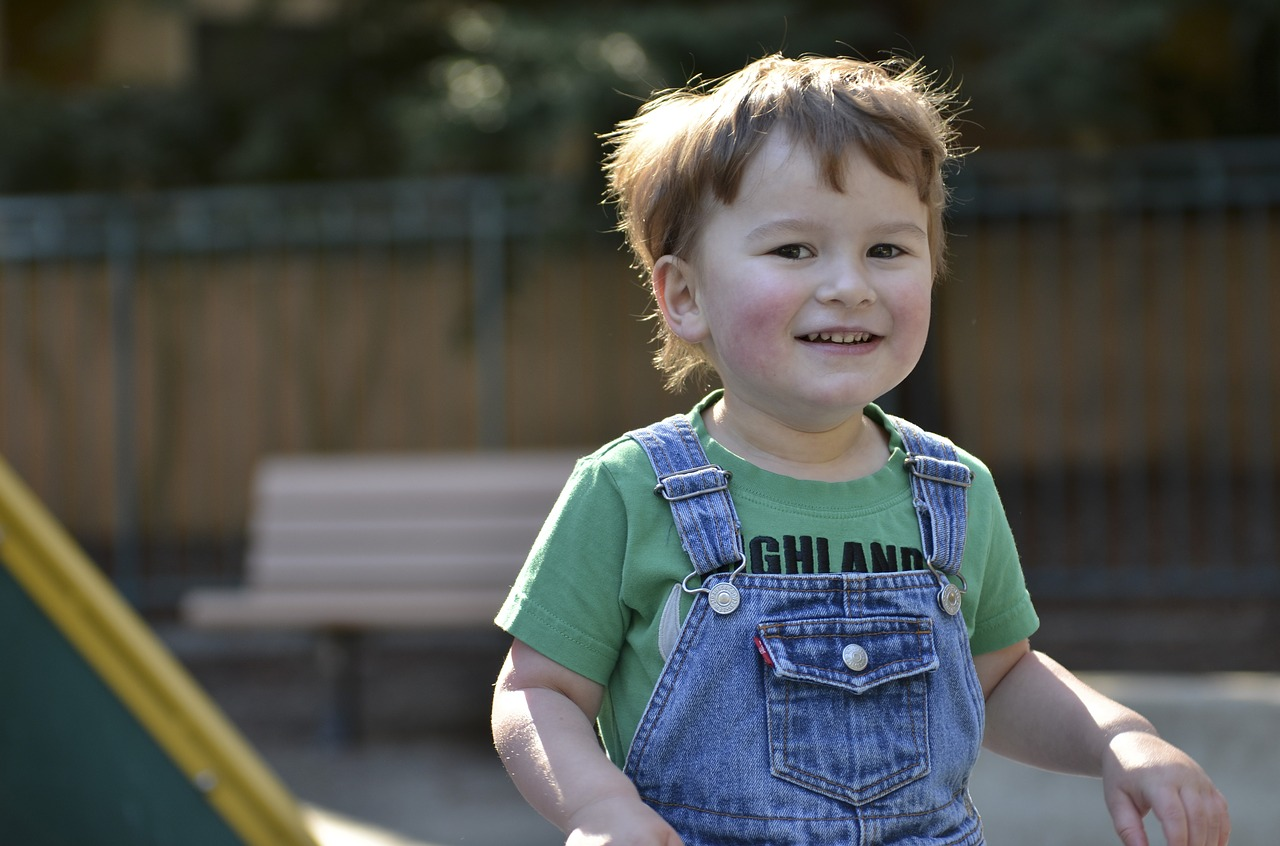 An Autistic Child Smiling