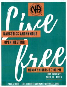 Narcotics Anonymous flier