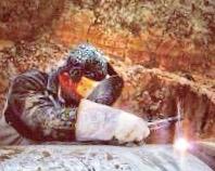 Welder performing certified pipe welding