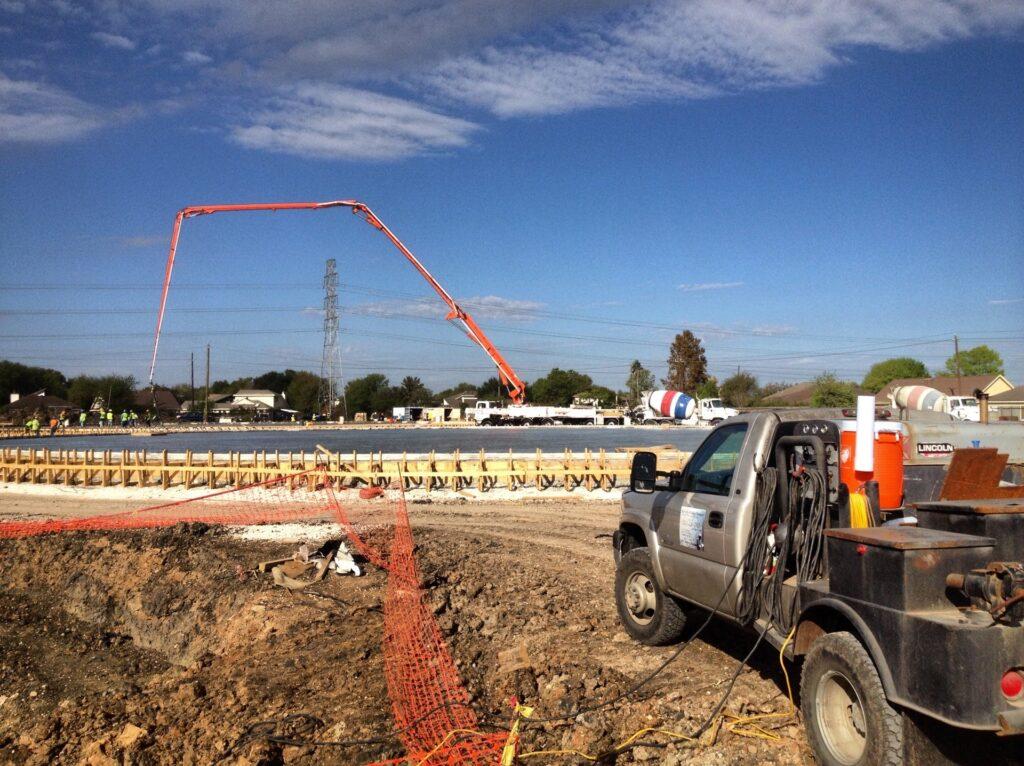 Welding rig performing on site welding