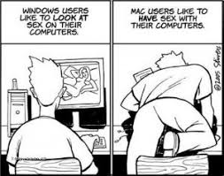Defining difference between Windows users & Mac users, funny.