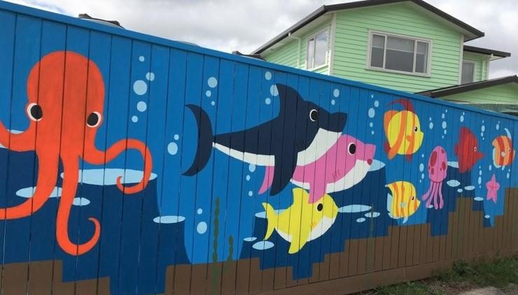 wall mural-baby shark