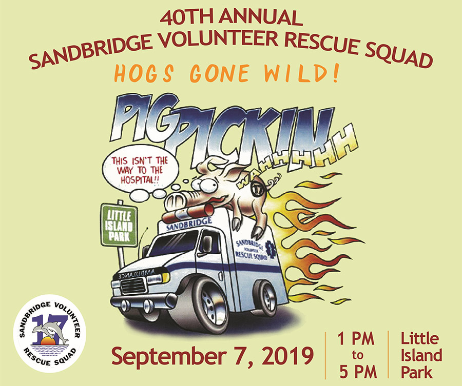 40th Annual Pig Pickin' is Postponed for Sunday September 8th