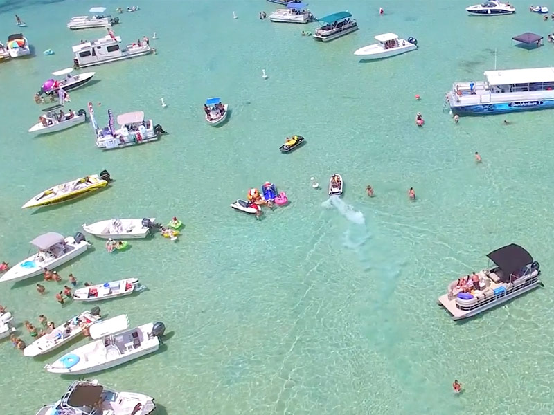 Aerial Photo of Crab Island Destin Florida