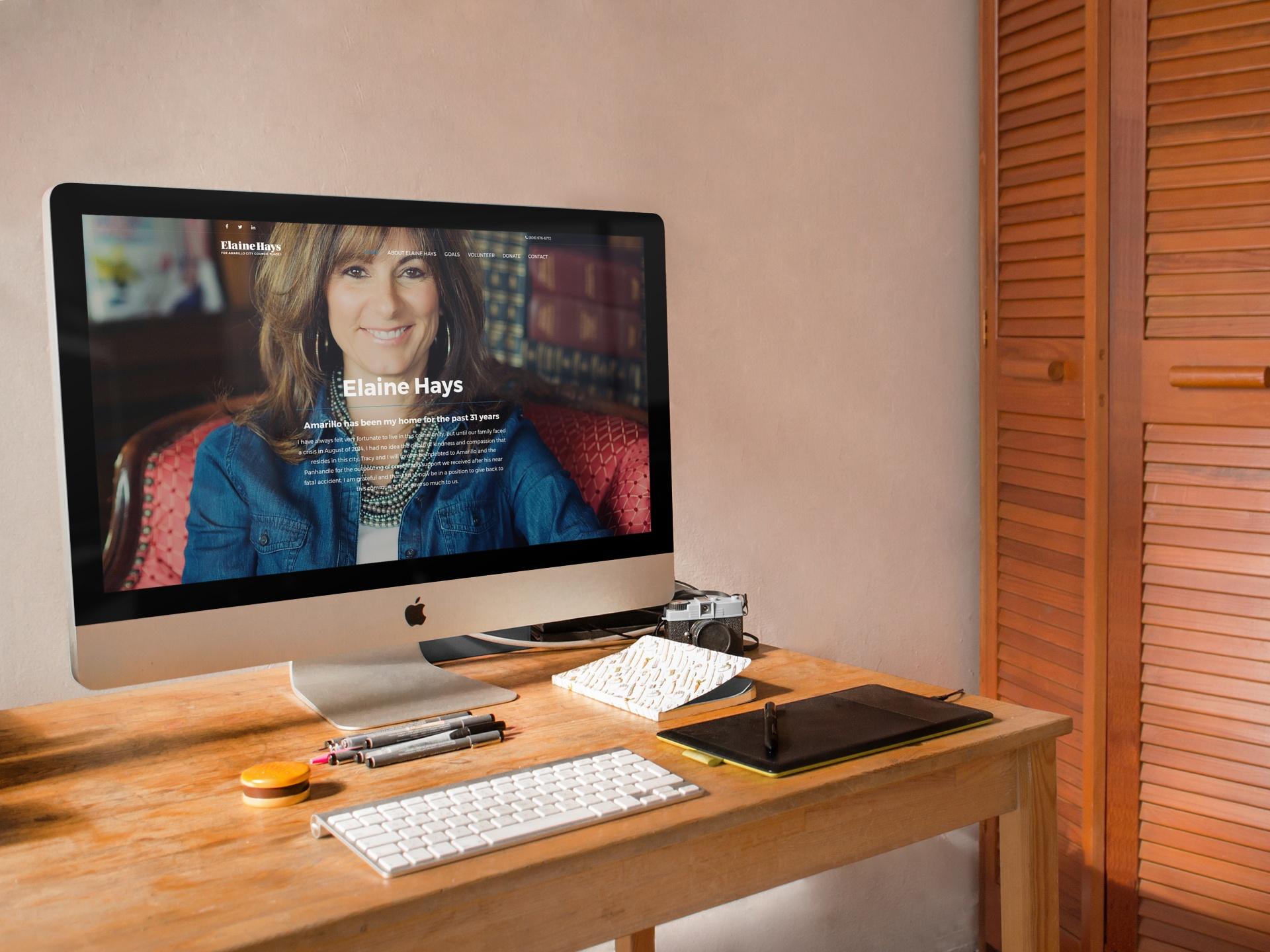 Elaine Hays Website Homepage
