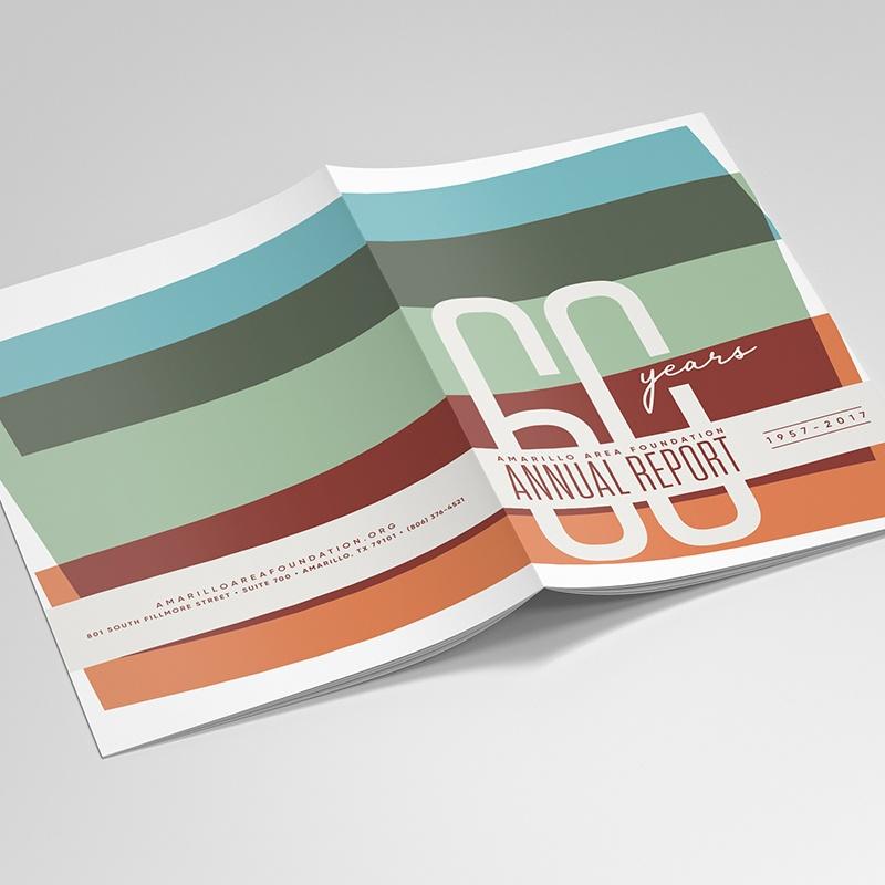 Amarillo Area Foundation annual report graphic design