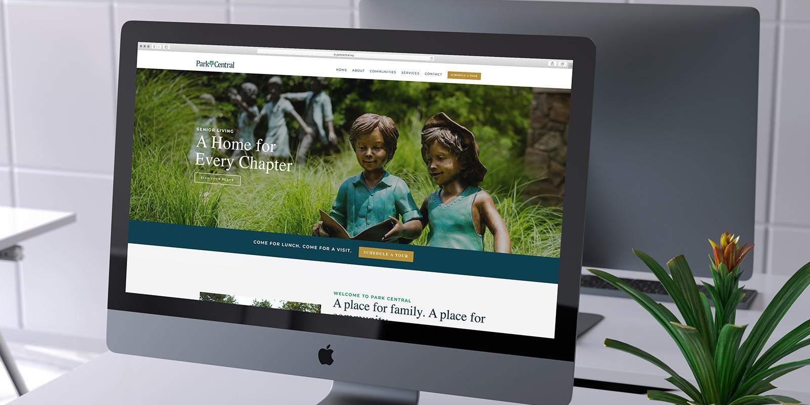 Park Central Senior Living community website design