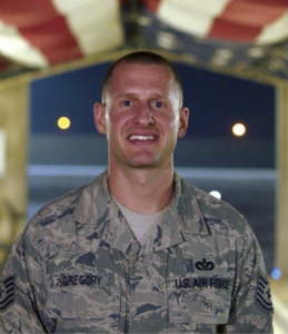 Us Air Force Man smiling for photo