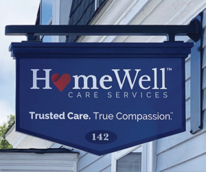 Homewell Office sign