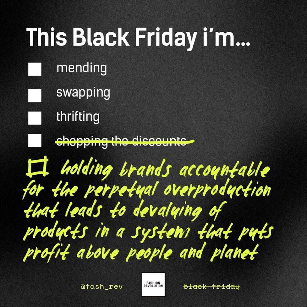 Black Friday Plan (illustration by : Fashion Revolution SG)