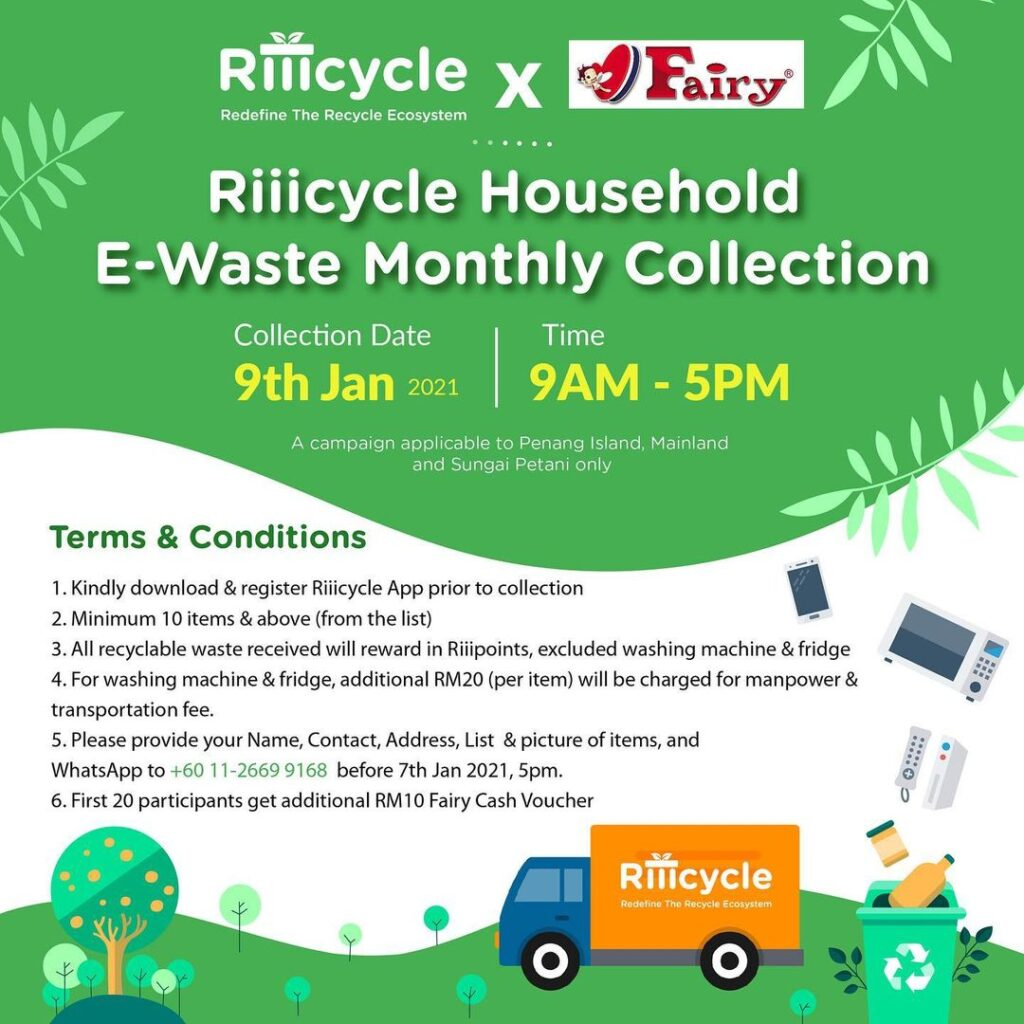 Riiicycle Household E-Waste Monthly Collection | Changemakr Asia