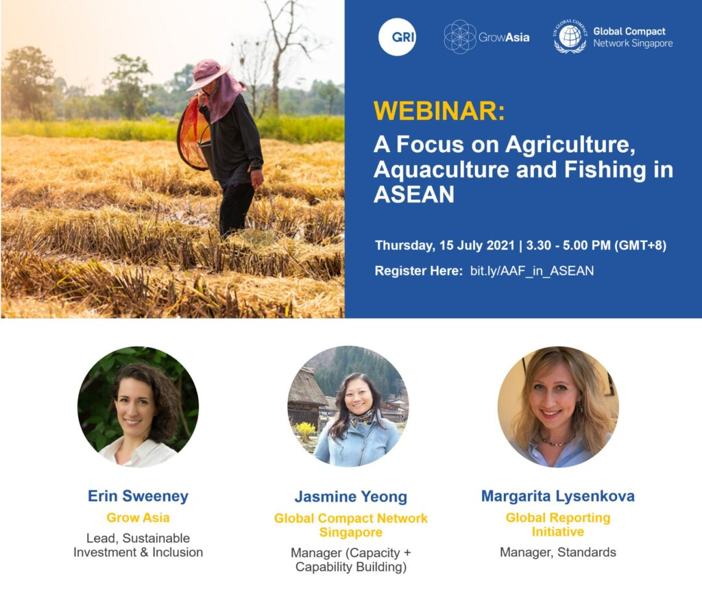Grow Asia Webinar : A Focus on Agriculture, Aquaculture and Fishing in ASEAN