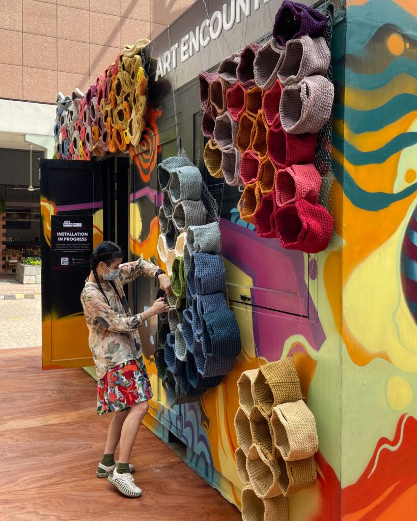 Art Encounters installation on progress