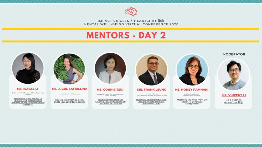 Day 2 Panelists (image credit : Impact Circles X Heart Chat HK)