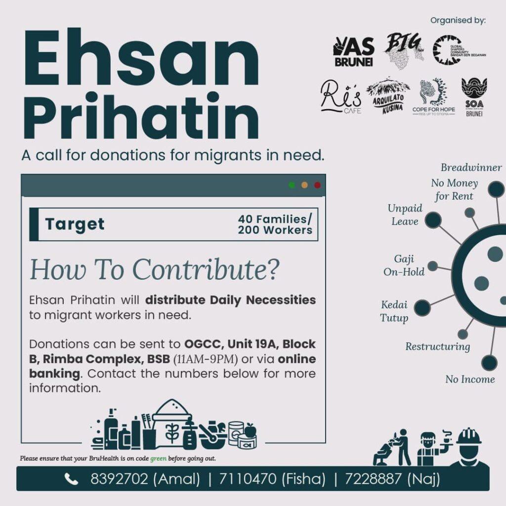 Eshan Prihatin : Donations for migrants