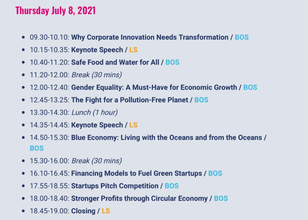 B for Planet Agenda 8 July 2021