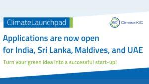 Climate LaunchPad india Srilanka Maldives UAE