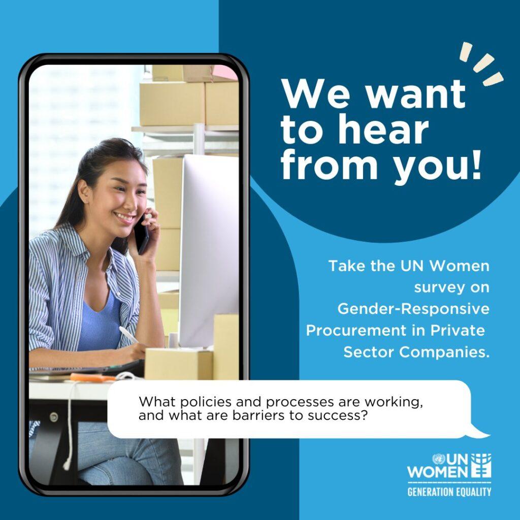 UN Women Survey Gender gender-responsive procurement!