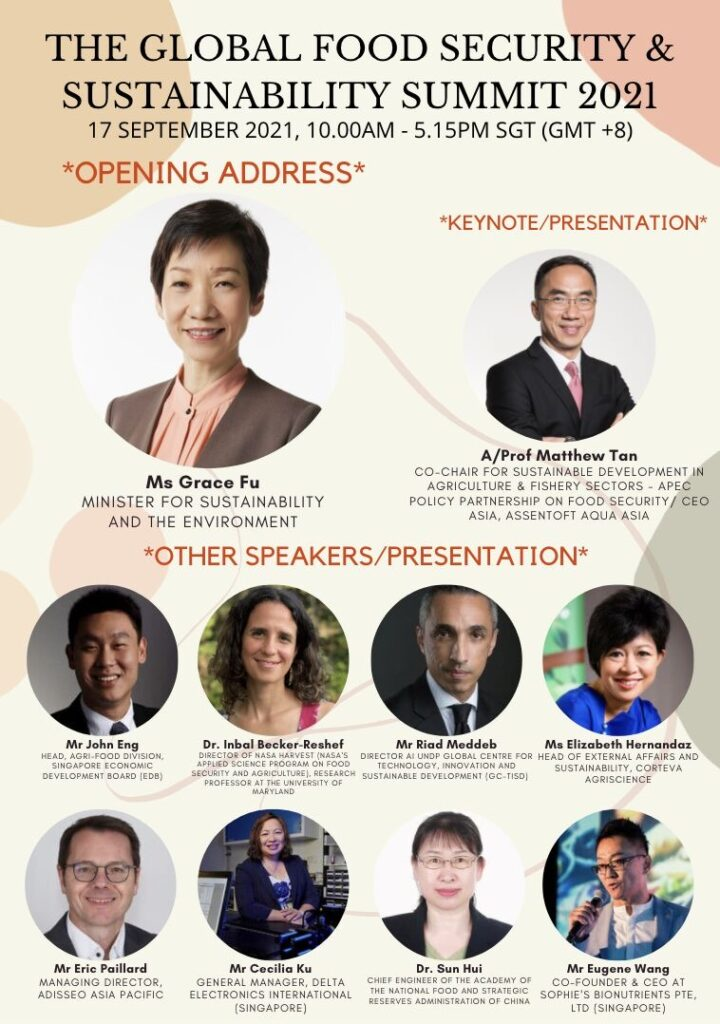 Global Food Security & Sustainability Summit 2021 Speakers