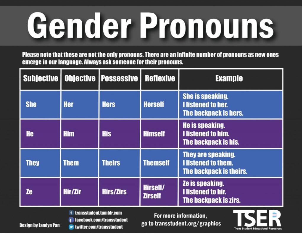 gender pronoun table 2