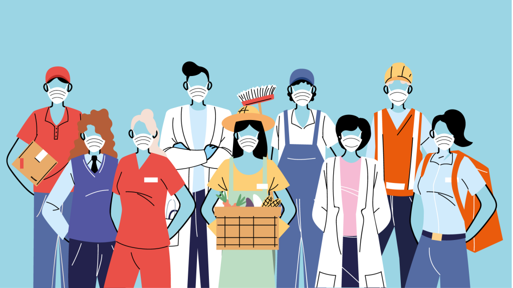 Migrants are at the front line of performing crucial tasks to keep citizens healthy and safe during the pandemic.(image : ©djvstock, adobe stock 2020