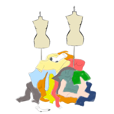 Clothing pile - fast fashion