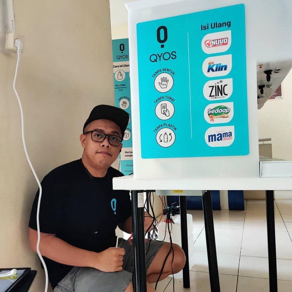 QYOS Developer and Venture Builder - Fazrin Raham (Image Credit : Zero Waste Living Lab - Indonesia)