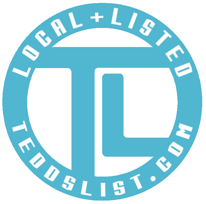 teddslist.com local-and-listed-logo-store-front-decal
