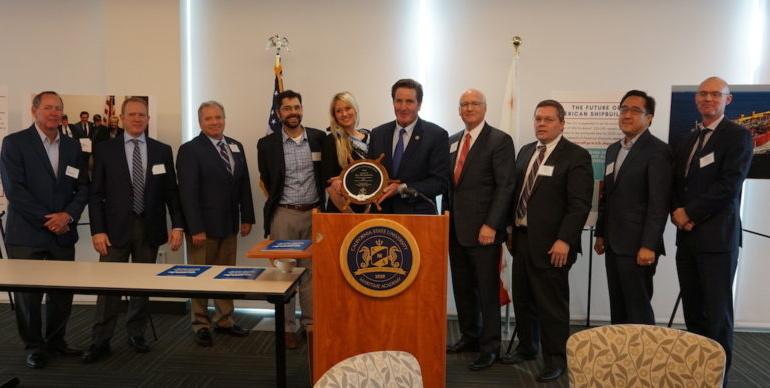 U.S. Congressman John Garamendi Receives 'Champion of Maritime' Award