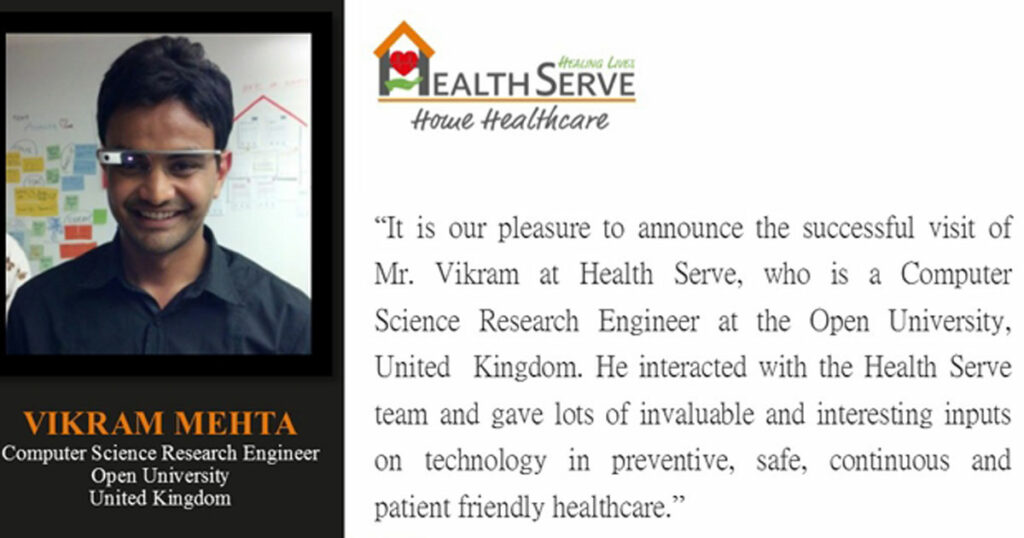 Research Engineer from Open University, UK visits Health Serve