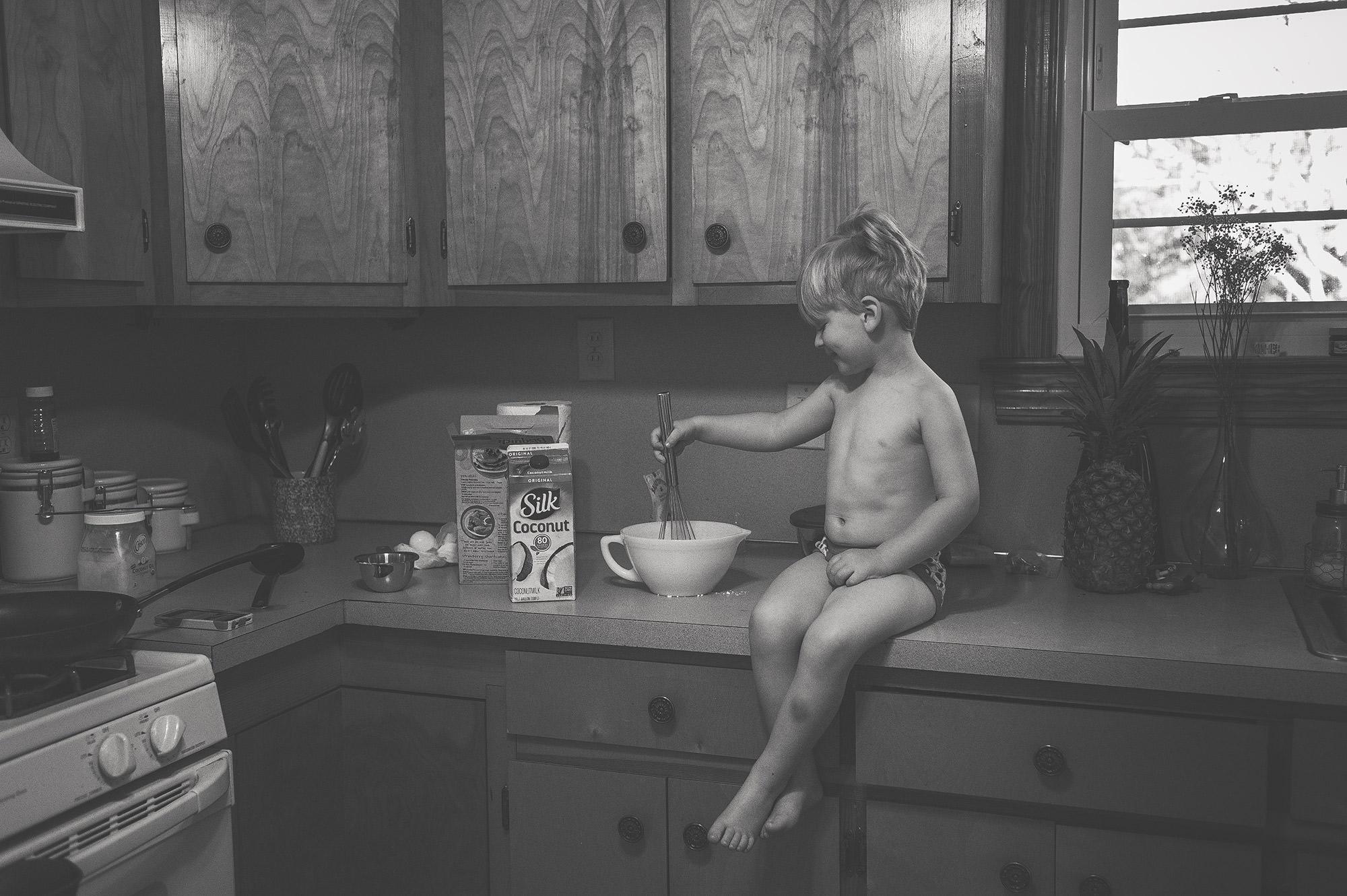 boy baking