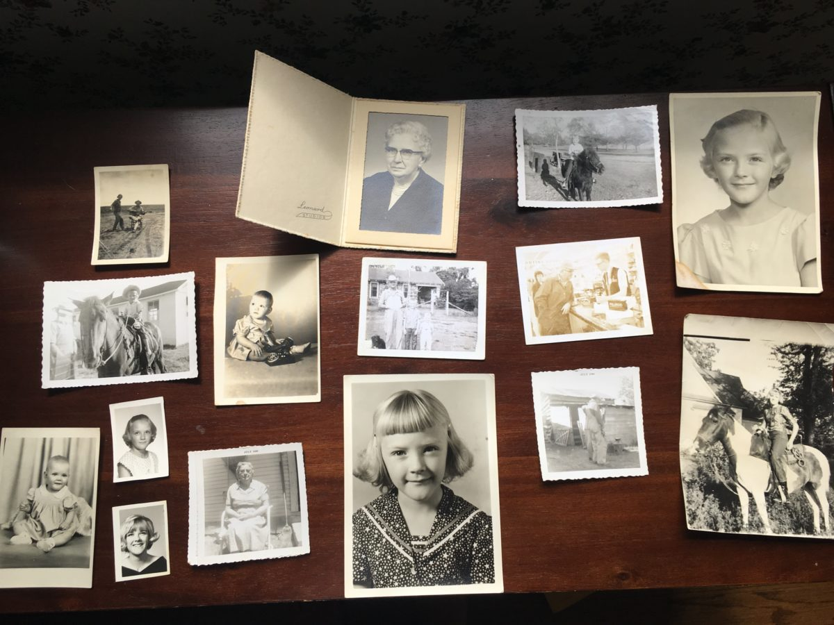 Old family black and white photographs