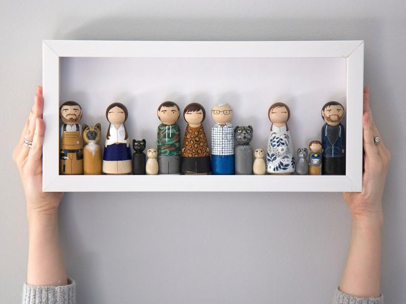 Peg Doll Family Portraits