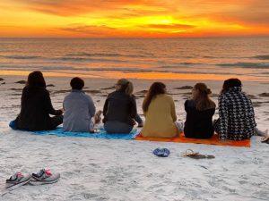 business women on a beach