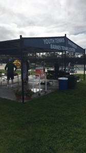 When you need  water, games, prizes, or comraderie, you can always turn to the center hub at Barnes Tennis Center (San Diego, Ca) - USTA SCTA TOC