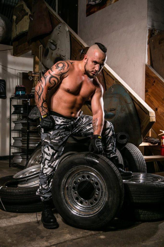 Junk yard photoshoot