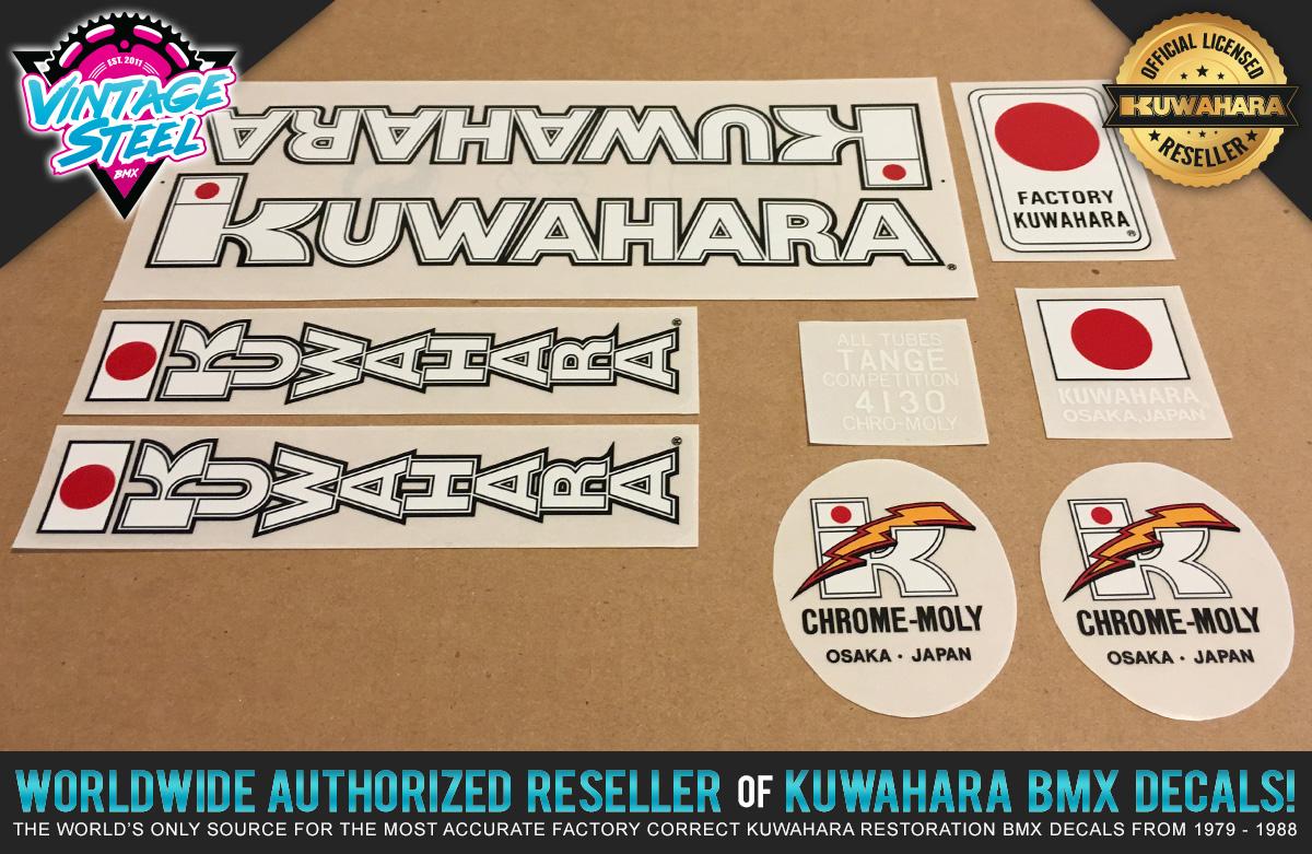"Factory Correct 1983-1984 Kuwahara 24"" Cruiser BMX Decal Stickers"