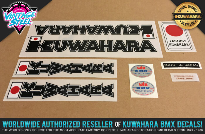 Factory Correct 1982 Kuwahara Apollo BMX Decal Stickers