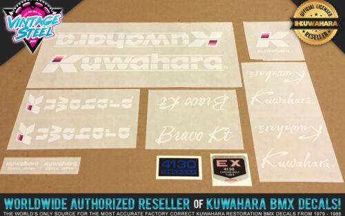 Factory Correct 1986 Kuwahara Bravo KT BMX Decal Stickers