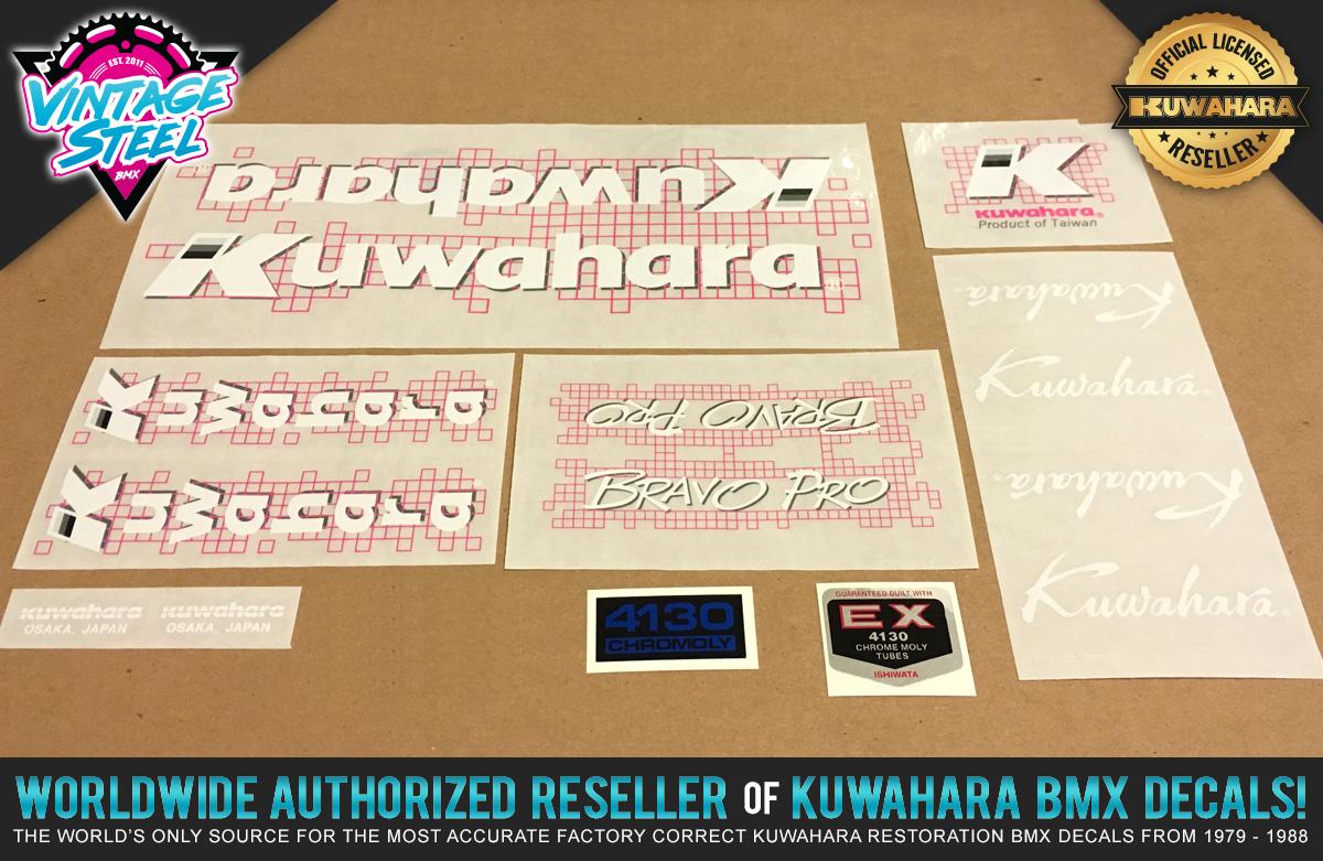 Factory Correct 1987 Kuwahara Bravo Pro BMX Decal Stickers