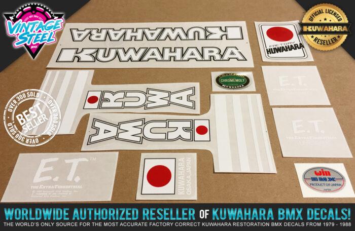 Factory Correct 1982 Kuwahara E.T. BMX Decal Stickers